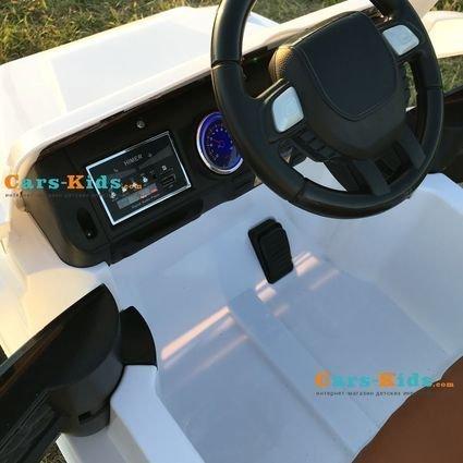 Электромобиль Мерседес Гелик М001МР белый NEW (колеса резина, кресло кожа, пульт, музыка)