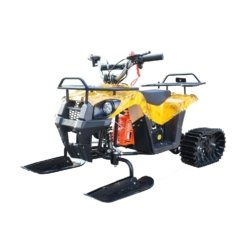 Снегоцикл Mini-Grizlik Snow желтый (до 30 км/ч, дисковые тормоза, до 60 кг)