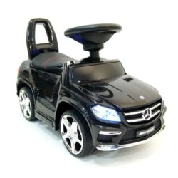 Толокар каталка Mercedes GL63 AMG - SXZ1578-E черный (колеса резина, кресло кожа, музыка, свет)
